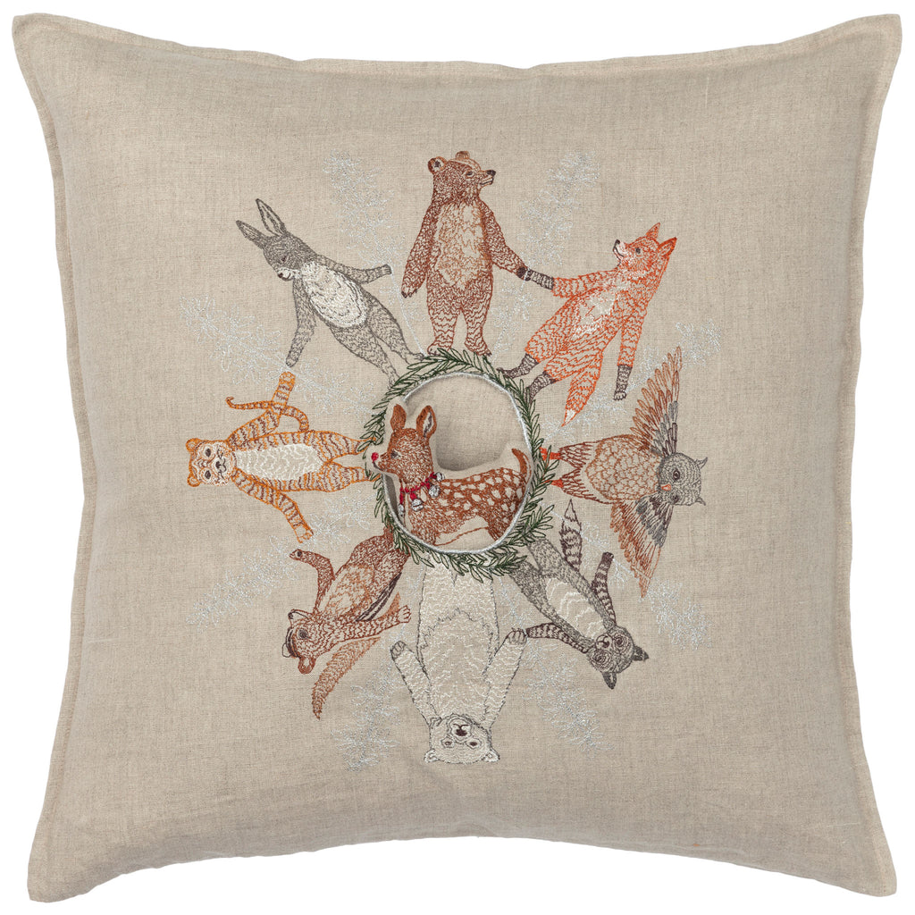 Animal Snowflake Pocket Pillow