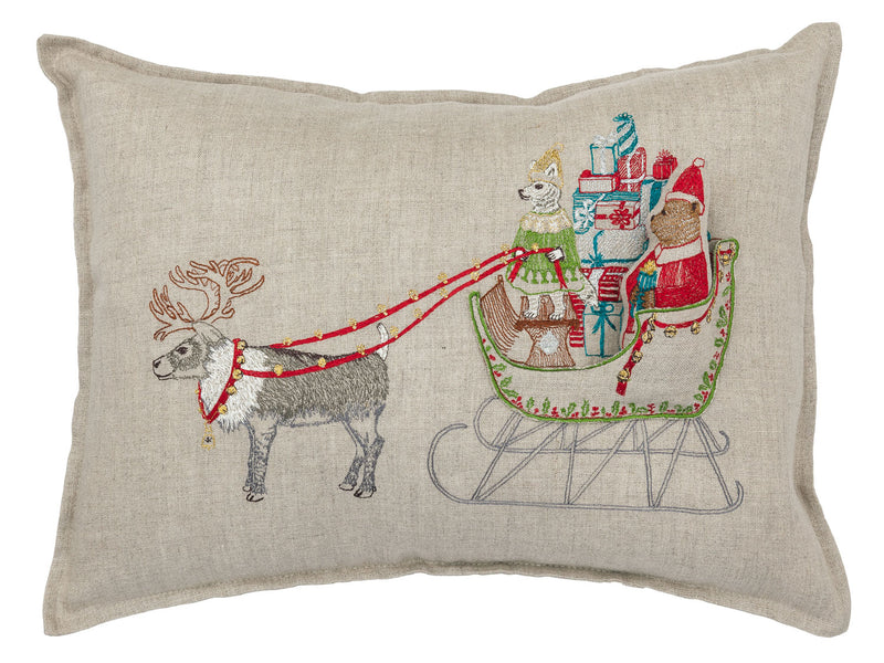 Santa's Sleigh Pocket Pillow