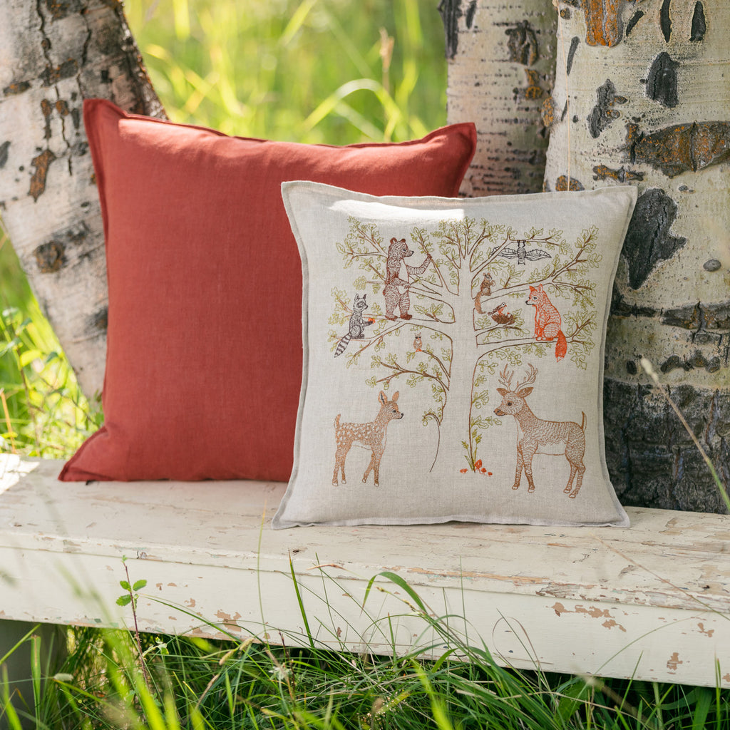 Woodland Living Tree Pillow