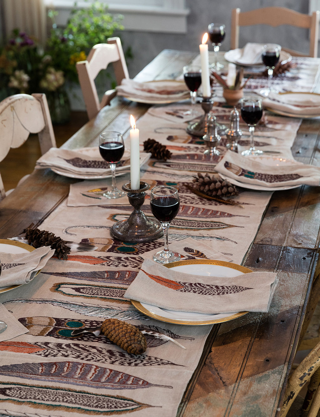 Feathers Table Runner