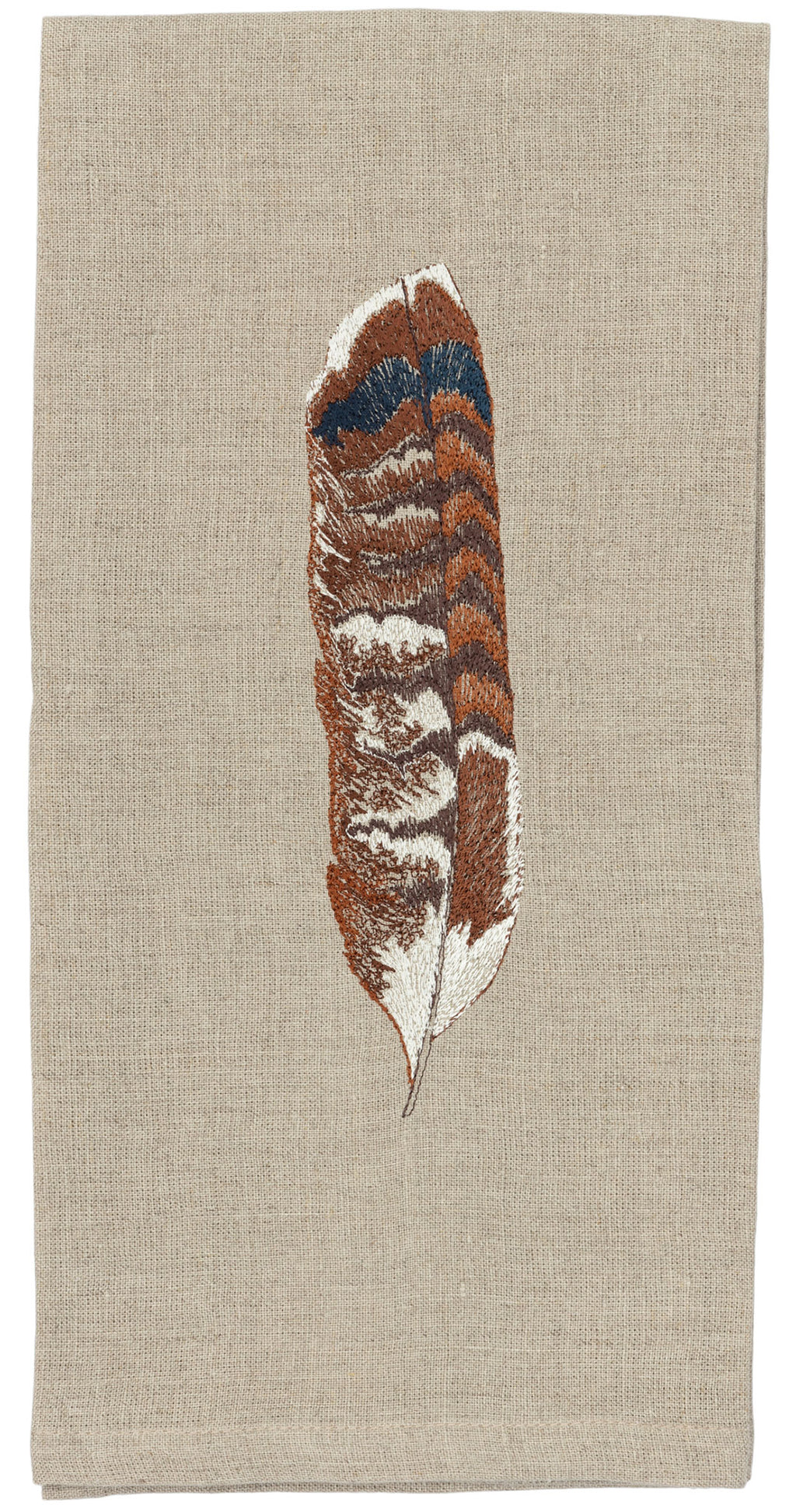 Red Tail Hawk Feather Tea Towel