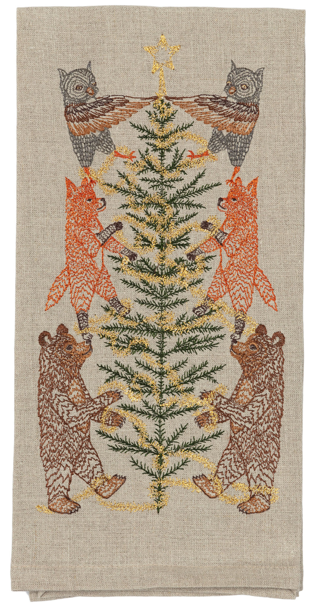 Tinsel Tree Tea Towel