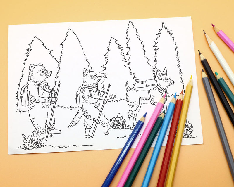 Camp Coloring PDF Download