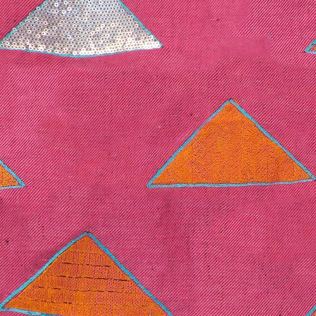 Pinnacle Quartz Fuchsia Striae Linen Yardage