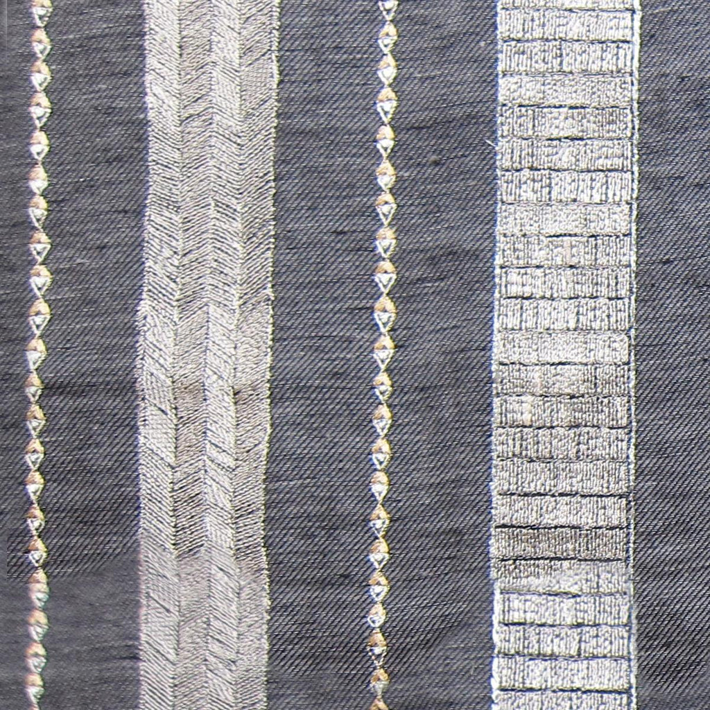 Riverbed Slate Striae Linen Yardage
