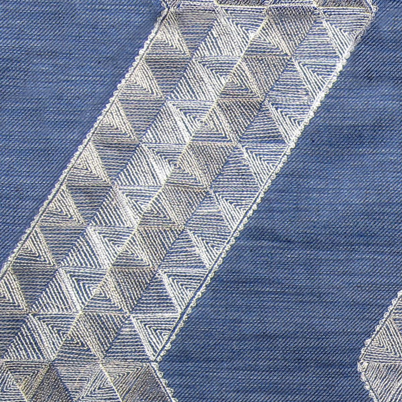 Sidewinder Indigo Striae Linen Swatches Only