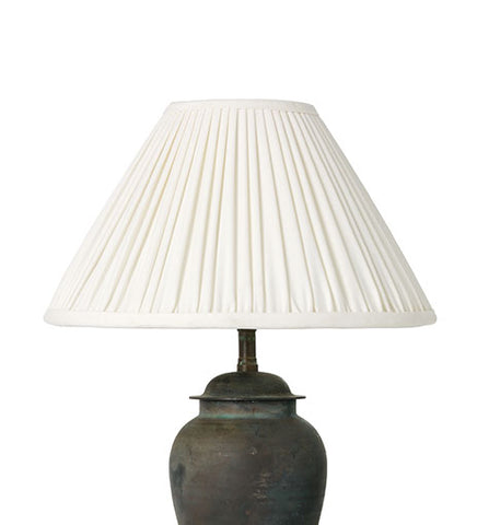 Empire Gathered Pleat Silk Lampshade
