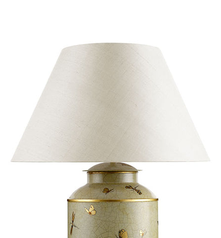 Empire Laminated Silk Lampshade