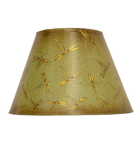 Empire Hand Painted Card Lampshade - Eau de nil Insects