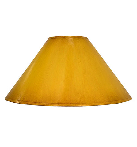 Coolie Hand Painted Card Lampshade - Distressed Ochre