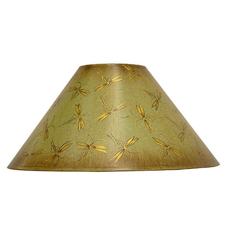 Coolie Hand Painted Card Lampshade - Eau de nil Insects