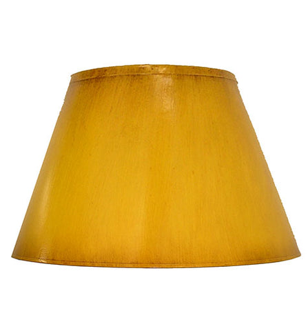 Empire Hand Painted Card Lampshade - Distressed Ochre