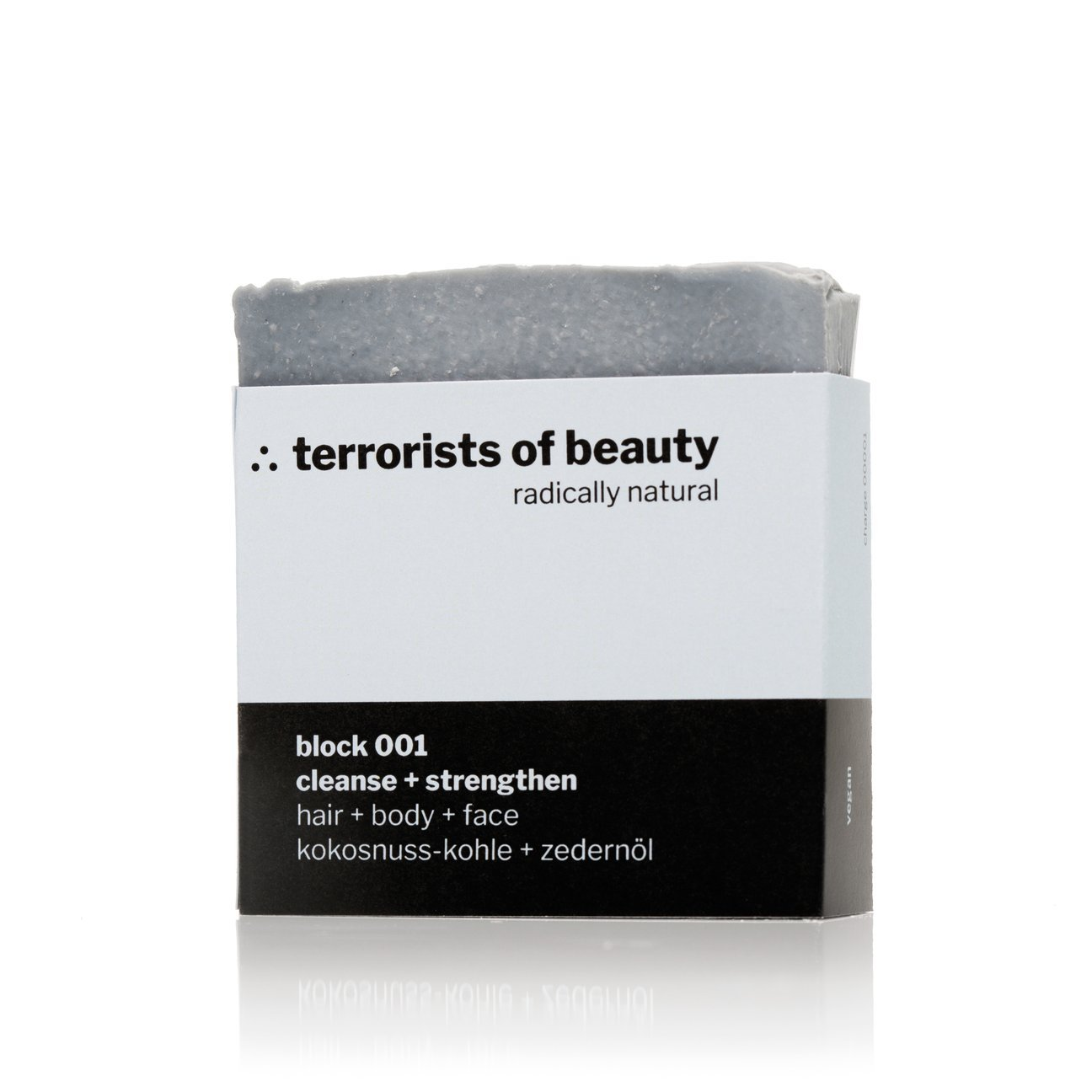 terrorists of beauty blockseife | block 001 cleanse + strengthen - LANGBRETT