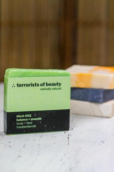 terrorists of beauty blockseife | block 002 balance + smooth - LANGBRETT