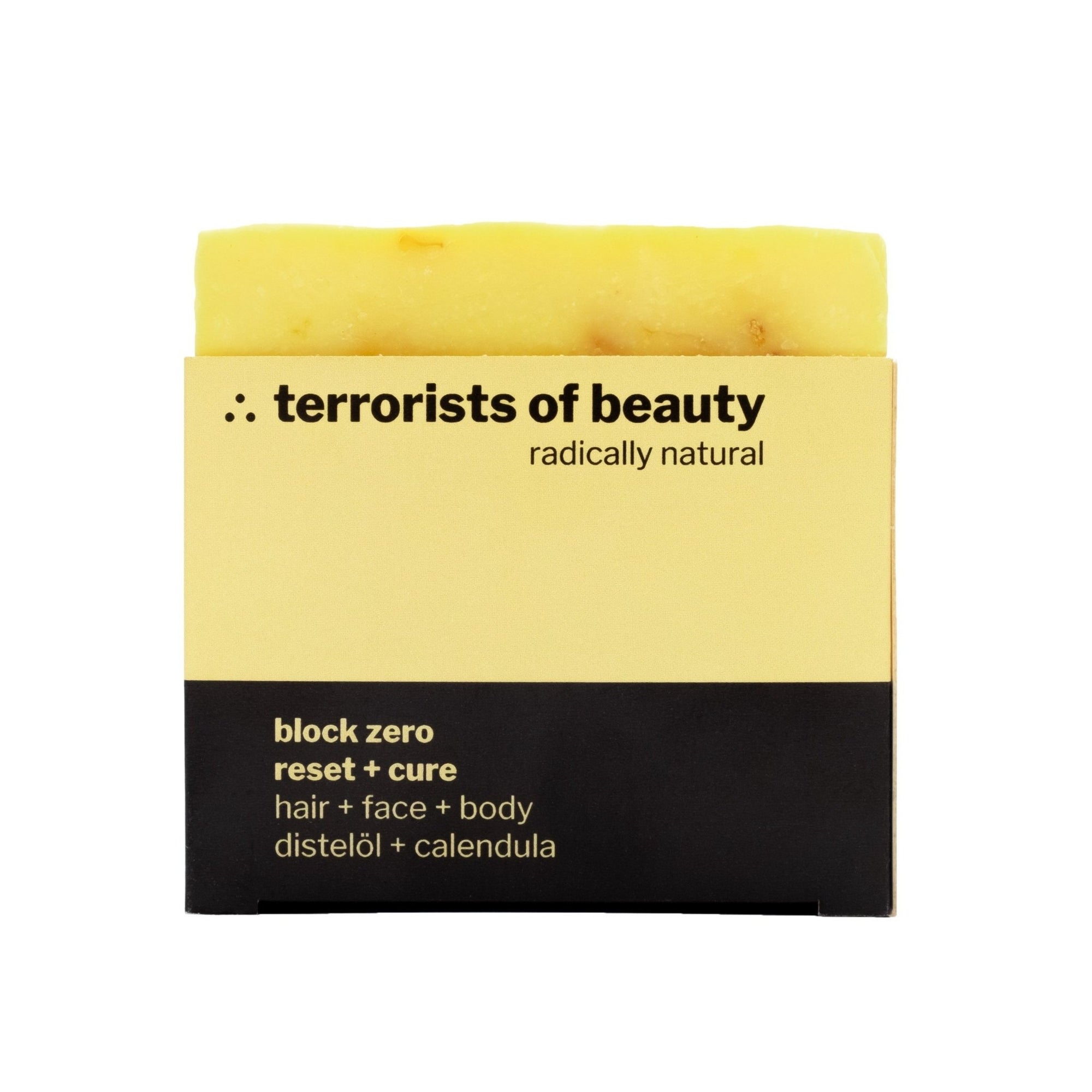 terrorists of beauty blockseife | block zero reset + cure - LANGBRETT