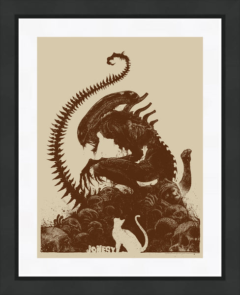 "Godmachine x Alien x Bottleneck's Official Print ""Jonesy"" On Sale Today!"