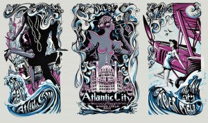 "AJ Masthay ""Bader Field Atlantic City"" Triptych"