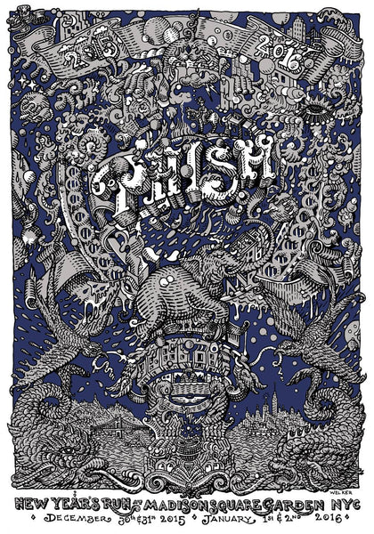 "David Welker ""PHISH - New York City"" Lottery Ticket"
