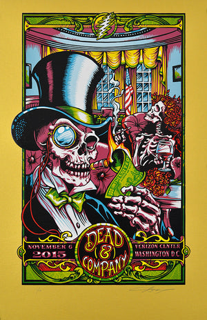 "AJ Masthay ""Dead & Co - In Dead We Trust"" Fine Gold Variant"
