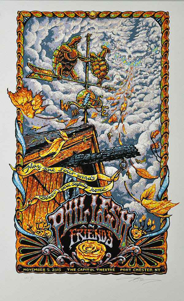 "AJ Masthay ""Phil Lesh & Friends - Four Winds"" Watercolor Variant"
