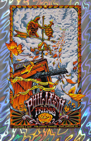 "AJ Masthay ""Phil Lesh & Friends - Four Winds"" Lava Foil Variant"