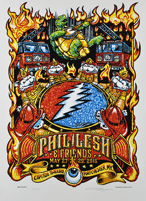 "AJ Masthay ""Help on the Way - Phil Lesh & Friends"" Watercolor"
