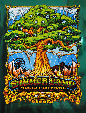 "AJ Masthay ""Summer Camp Music Festival"" Green Foil"