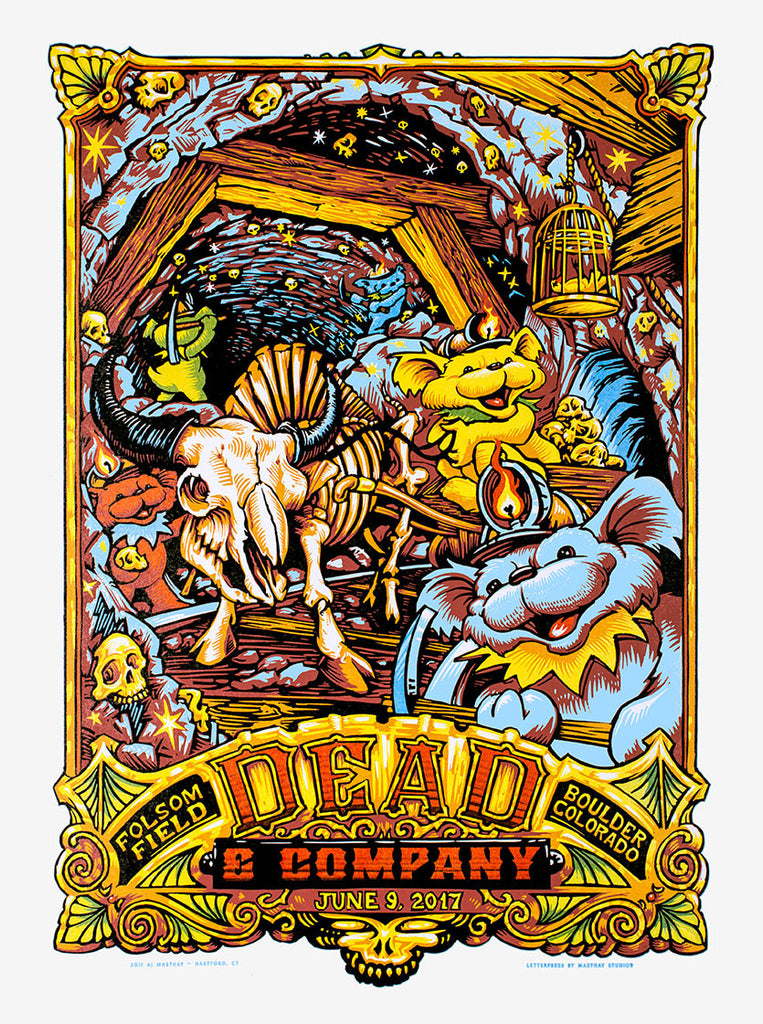 Dead Amp Company Boulder Co Gig Prints By Aj Masthay On