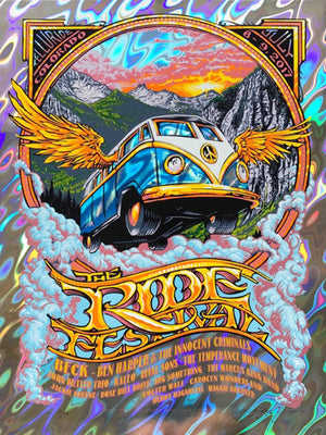 "AJ Masthay ""The Ride Festival (Beck)"" Lava Foil"