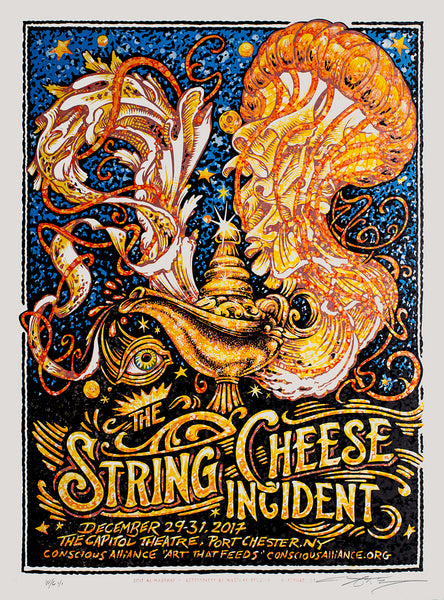 "AJ Masthay ""The String Cheese Incident - Capitol Theatre"" Watercolor"