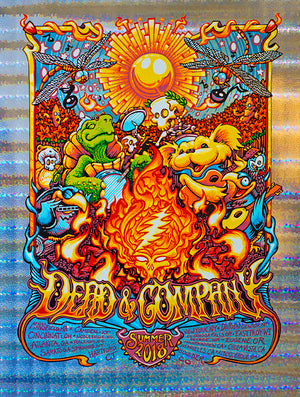 "AJ Masthay ""Dead & Company - Summer Tour"" Stained Glass Foil"