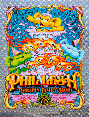 "AJ Masthay ""Phil Lesh 78th Birthday"" Big Dots Foil"
