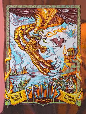 "AJ Masthay ""Primus - The Greek Theater"" Copper Foil"