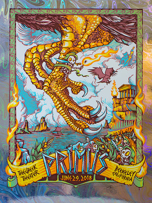 "AJ Masthay ""Primus - The Greek Theater"" Oil Slick Foil"