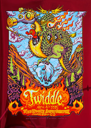 "AJ Masthay ""Twiddle - Red Rocks"" Red Foil"