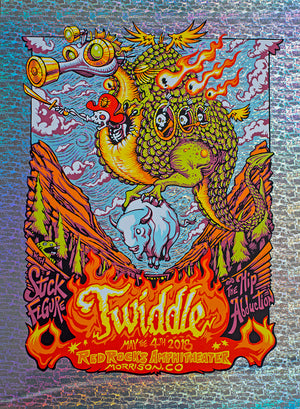 "AJ Masthay ""Twiddle - Red Rocks"" Stone Foil"