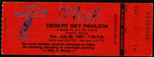 Phish Household appliance mashups from 1997 tickets, signed '96
