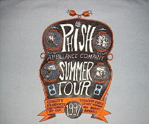 "Jim Pollock ""Phish Summer '97 Appliance Shirt w/ Household Items *Misprint Fall 96*"" - B"