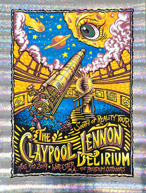 "AJ Masthay ""Claypool Lennon Delirium - Worcester, MA"" Stained Glass Foil"