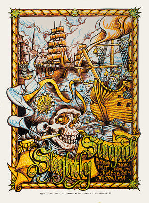 "AJ Masthay ""Slightly Stoopid - Boston, MA"" Watercolor"