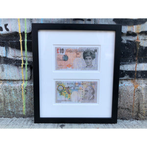 Banksy Di-Faced Tenner (Double Frame)