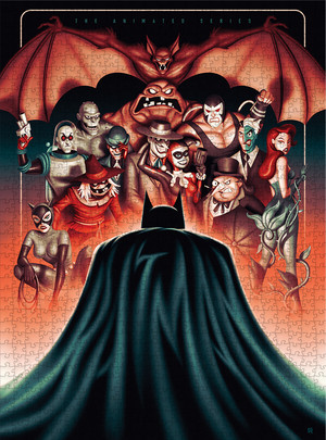 Batman: Rogues Gallery - 1000pc Puzzle + Poster