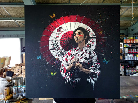 "Roamcouch ""Nadeshiko"" Canvas - Red"
