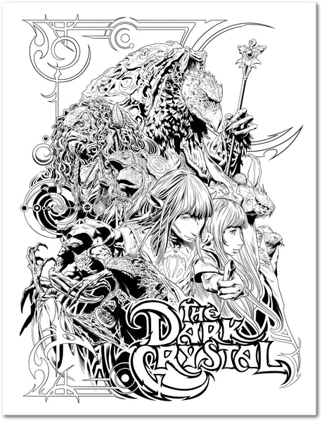 "Sergio Sandoval ""The Dark Crystal"" Letterpress"