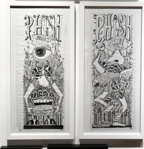 Phish Alpine '09 (6/20 & 6/21) OG ink on velem set