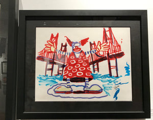 "Jim Pollock ""Phish B&J Randall's Island Waterwheel Clown OG"" Marker Sketch"