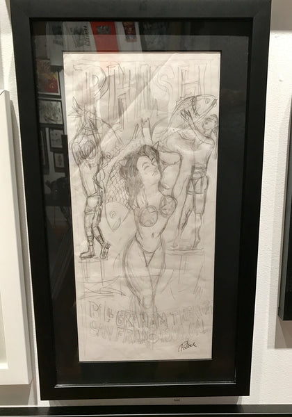 Phish OG Bill Graham 2014 Women In Bikini Concept Sketch