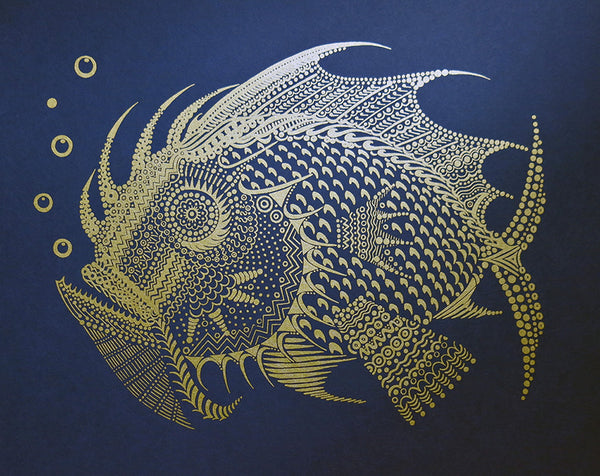 "Anna Witt & David Welker ""Gold Fish"" Night Blue Edition"