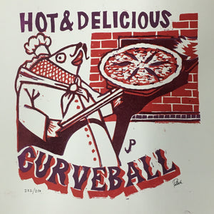 "Jim Pollock ""Hot & Delicious Pizza"" Lottery Entry"