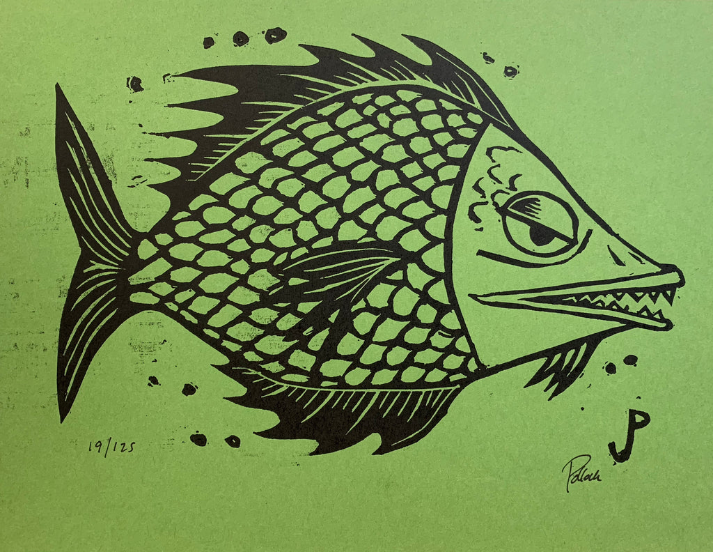 GREEN FISH & YELLOW FISH by Jim Pollock On Sale Info!